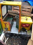 Fiberglass Fairground Toy Digger Bull Dozer