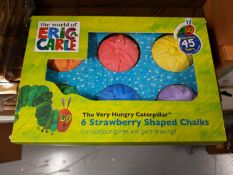 Very Hungry Caterpillar Outdoor Chalks - Six Chalks Per Pack - 5 Units
