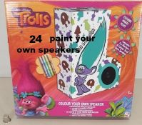 24 Trolls Paint Your Own Speakers RRP £4.99 Each.