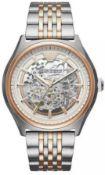 Emporio Armani - Mens Meccanico Two Tone Skeleton Watch Ar60002