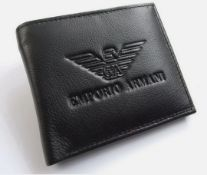 Emporio Armani Men's Leather Wallet - New With Box