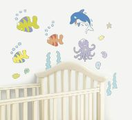 Bedroom Wall Stickers Packs Of 28 Stickers Under The Sea Theme - 9 Units Per Lot