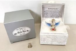 10 x This Beautiful White Damask Covered Gift Box