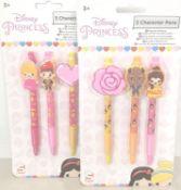 36 Packs X Disney Princess, 3 Character Pen Sets. 108 Pens In Total