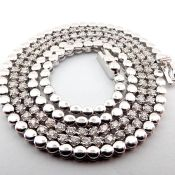 14K 1,20 ct Diamond Tennis Half Eternity Necklace