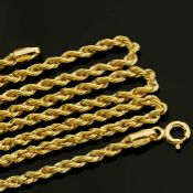 19.7 In (50 cm) Rope Chain Necklace. In 14K Yellow Gold