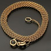 19.7 In (50 cm) Chain Necklace. In 14K Rose/Pink Gold