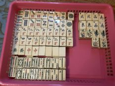 1920'S Bone And Bamboo Mahjong Tiles