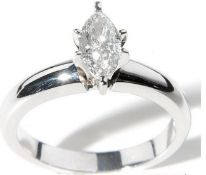 18Ct White Gold Diamond Solitaire Ring 0.60 Ctw
