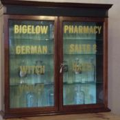 Excellent Pharmacy Mahogany Dispensing Cabinet