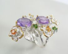 Designer ring with Amethyst