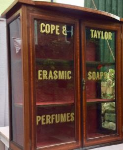Antique Mahogany Pharmacy Shop countertop Cabinet