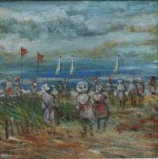 Walter John Beauvais (1942-98) Beach Scene Oil Painting