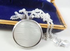 Silver necjkalce with mother of pearl pendant