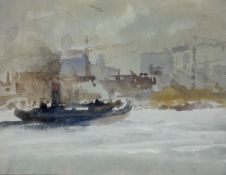 Puffers on the Clyde, Watercolour