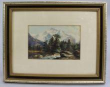 Edwardian Watercolour Landscape by W.L.Guest