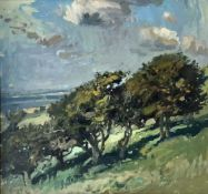 'Hillside Meadow' Oil on Canvas Painting