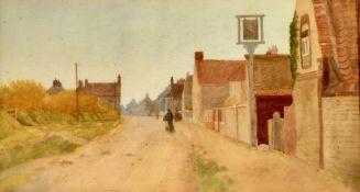 J Turner, Street Scene, Signed Watercolour