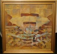 Peter Sumpter 'King of Kites' Oil on Board 1998