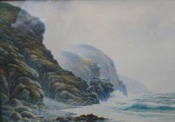 Early 20th c. English Coastal Watercolour by Arthur Dean