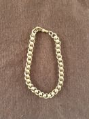 9ct Gold Barrel Link Bracelet