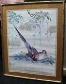 Print of Oriental Style Game Birds Set in Frame