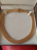 18ct yellow gold necklace 56.65 grams