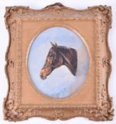 Watercolour of gypsy in a gilt swept Picture frame