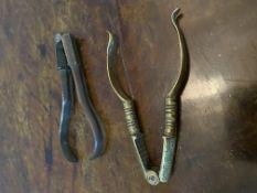 Two C18th nutcrackers in brass
