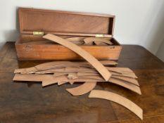 C19th architects curves in a mahogany box