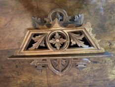 C19th Black Forest fretwork candle box