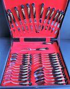Vintage Alfred Haddad Jezzine Firebird 38 Piece Cutlery Set