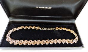 Vintage Amber Crystal Necklace in Gift Presentation Box