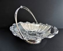 Antique Art Nouveau Silver Plated Cake or Fruit Basket c.1890's