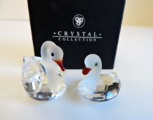 Pair Gianfranco Ranoldi Crystal Figurines New Boxed