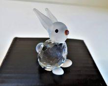 Kristallhuset Crystal Rabbit Figurine