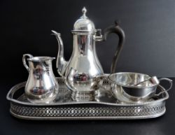 Antique Mappin & Webb Silver Plated Coffee Set