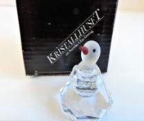 Kristallhuset Crystal Penguin Figurine New Boxed
