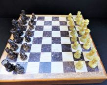 Chess Set Hand Carved Soapstone Chess set and Board