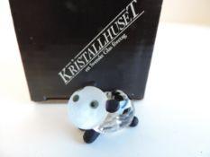 Kristallhuset Crystal Panda Figurine
