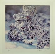 Signed Limited Edition 'Snow Leopards' By Donald Grant