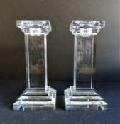 Xavier Crystal Candlesticks Matching Pair