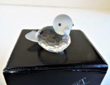Kristallhuset Crystal Duck Figurine New Boxed