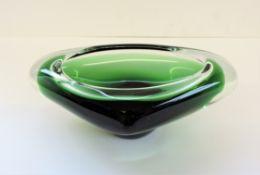 Flavio Poli Italian Sommerso Murano Glass Bowl