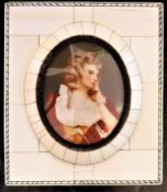 Hand Painted Miniature of Aristocratic Regency Lady