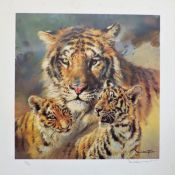 Limited Edition Signed Print 'Bengal Tiger & Cubs' by Donald Grant