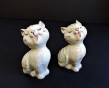 Pair of Vintage Beswick Porcelain Cats