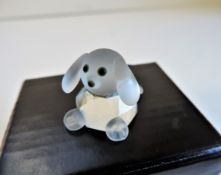 Kristallhuset Crystal Dog Figurine New Boxed