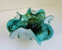 Fratelli Toso Murano Glass Biomorphic Bowl