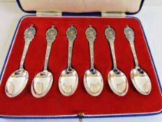 Cased Set George VI 1937 Coronation Silver Plated Spoons